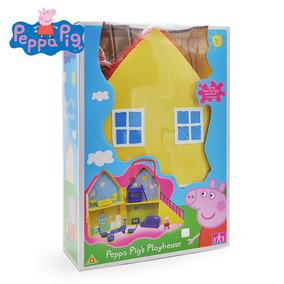 Família Peppa Pig + Casinha Mobiliada Na Caixa Original.
