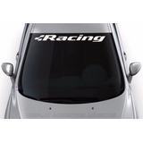 Adesivo Racing Faixa Parabrisa Tunado Carro Acessório Tuning