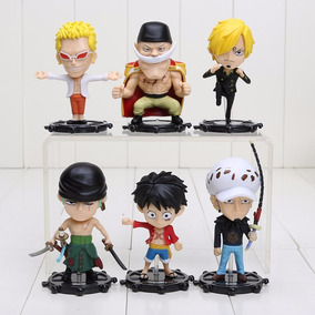One Piece Boneco Luffy Zoro Sanji Nami Usopp Action Figures