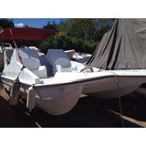 Lancha Catamarã 16 Pés Motor Johnson 45hp