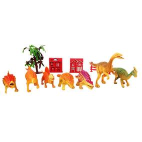 Juguete Dinosaurio Set 11 Piezas Juego Niños Animales Nuevos