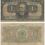Nota Dinheiro Antigo Cédula 1 Um Mil Reis