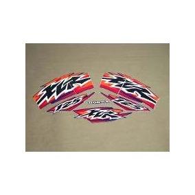 Kit Jogo Adesivo Faixa Xlr 125 1999 99 Moto Azul 379