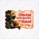 Adesivo Para Vitrine Natal Feliz Boas Festas Ofertas Árvore