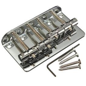 Ponte Para Contra Baixo 4 Cordas Cromada Kit Completo