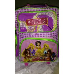 Maleta Escolar Niña Campanita Y Princesas Disney