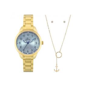 7c26b8f46fb47 Kit Relogio Allora Feminino Dourado - Relógio Feminino no Mercado ...
