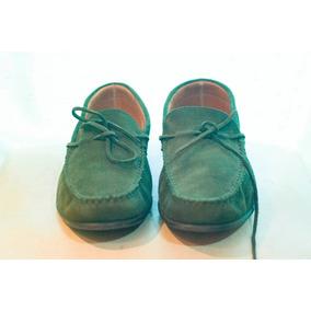 Zapatos Mocasines Massimo Dutti Hombre Cuero Gamuza