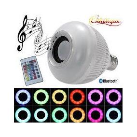 Lampada Led 6 7w Rgb Caixa Som Bluetooth 2 Em 1 Music Bulb