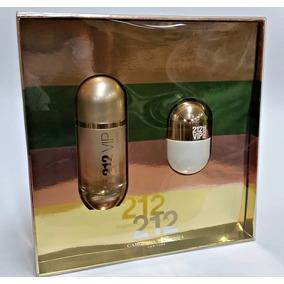 Kit Perfume 212 Vip Rose 80ml + Miniatura 20ml Edp Original