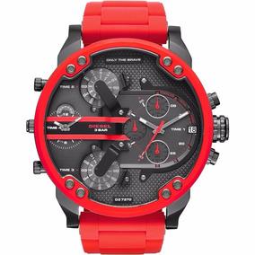 Relógio Masculino Diesel Dz7370 M41 Vermelho Novo C Cx