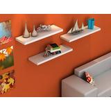Mueble Y Decoración Repisa Flotante Minimalista Kit 3pzas