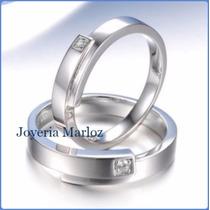Argollas Matrimoniales Oro Blanco 14kt Macizas Envío Gratis