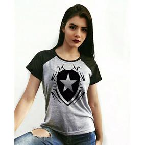 672c16eaf6 Camisa Botafogo Prata - Blusas para Feminino no Mercado Livre Brasil