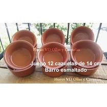 Juego 12 Cazuelas De Barro De 14 Cm Para Gastronomía Horno
