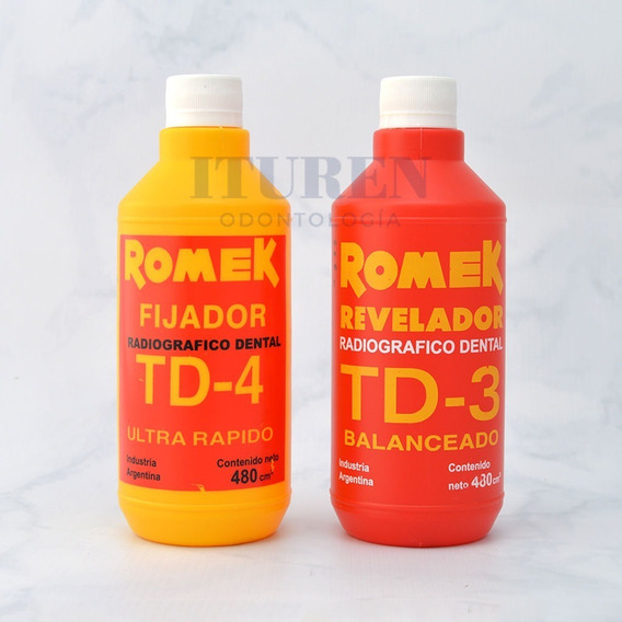 Romek Fijador Td-4 + Revelador Radiográfico Dental Td-3