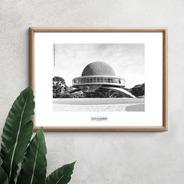 Lámina Foto Planetario Buenos Aires 40 X 30 Cm