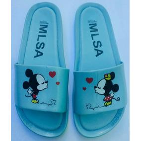Chinelo Sandália Melissa Beach Slide Mickey E Minie Beijinho