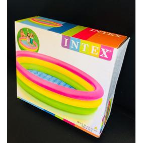Piscina Infantil Inflable 3 Anillos Intex Niños 57422