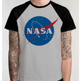 Camiseta Raglan Nasa Camisa Blusa Agência Espacial Unissex