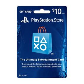 Playstation Network Card Cartão Psn $10 Dólares Usa Imediato