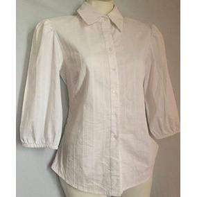 Manga Casuales Camisas Larga Primario De Blanco Mujer Color En 7agn1a