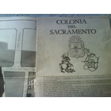 Antiguo Plano De Colonia Del Sacramento Mide 80 Cm,lar X 50