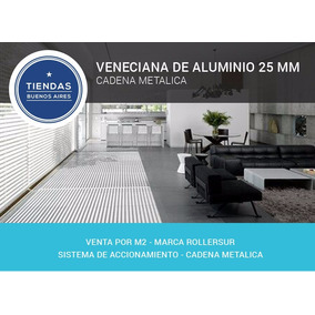 Cortina Veneciana Microperforada Aluminio 25mm Cadena Metal