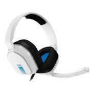 Fone Gamer Astro A10 Branco E Azul Ps4/pc/xboxone/mac/switch
