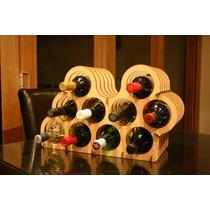Mini Adega Suporte Rack Porta 10 Garrafas De Vinho Em Mdf