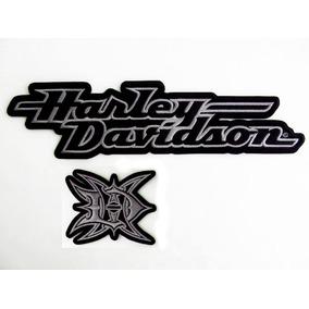Parches Harley Davidson Letras Clasicas P/ Chamarra Chaleco