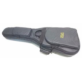 Semi Case Bag Para Violão Flat Godin Couro Ecológico Preto