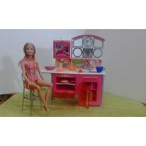 Brinquedo Barbie Antigo E Raro Cozinha Geladeira E Fogão