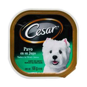Alimento Humedo Perro Adulto Cesar Pavo En Su Jugo 100gr