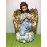 Figura De Angel Rezando De Resina 35 Cm Hecho En México