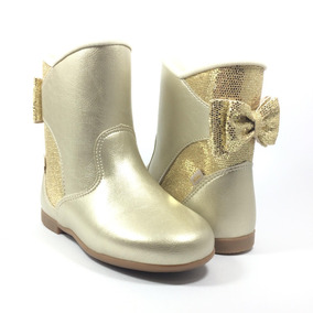 Bota Feminina Infantil Ouro Kidy 0932