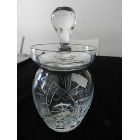 Antigua Caramelera De Cristal Con Tapa