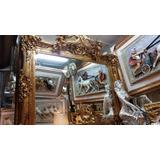 Espejo Grande De Madera Y Fibra De Vidrio-remate