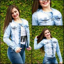 Jaqueta Jeans Feminina 6205 Unica /knoten Jeans Cod. 620500.