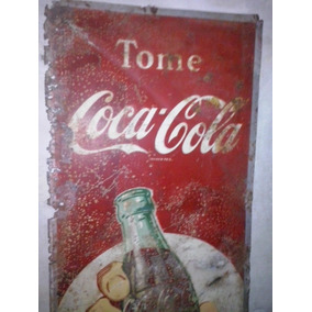 Antiguo Original Cartel Enlozado Original Coca Cola