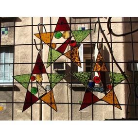 Estrella Adorno Navidad, Felices Fiestas, Fin Año. Vitraux
