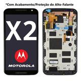 Tela Display Lcd Frontal Motorola Moto X2 X 2 + Acabamento