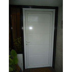 Puerta Exterior Ita Pvc Blanco Ranurada 0.90x2.00