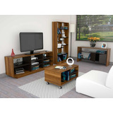 Set Rack Tv+biblioteca+mesas (envío Gratis) C12-clco-tuhome