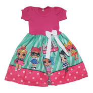 Vestido Infantil Lol Regata Ou Manga Curta Fab2