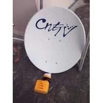 Antena Satelital Cnt Con Lnb Televes De Doble Salida.