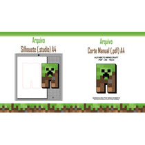 Kit Silhouette Minecraft Letras + Mascara Recorte Manual