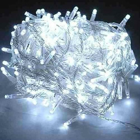Pisca Natal Led 100 Lâmp Branco Frio 8 Funções 110/127v 6,8m