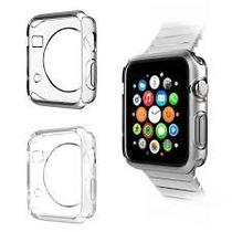 Paquete Funda Tpu Silicón Apple Watch 42 Mm Mica Cristal Dhl
