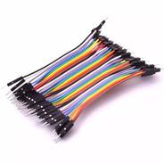 Pack 40 Cables Macho Macho 10cm Dupont